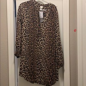 Tunic cheetah print dress